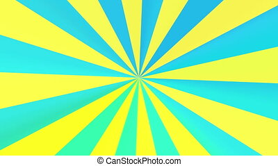 abstract yellow radial pattern - The radiant rotating...