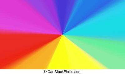 rainbow color wheel spectrum 4K