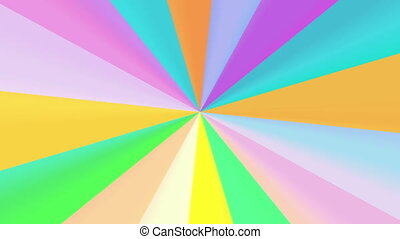 color round spectrum 4K - The radiant rotating background...