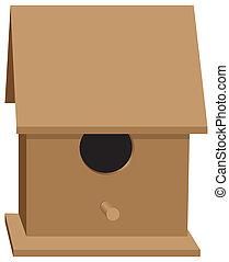 Wooden bird house classical shape - Wooden bird house of...