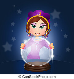Fortune Teller - illustration of Fortune Teller
