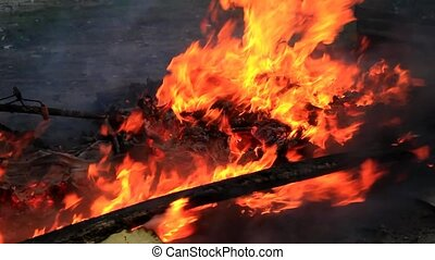 Fire on the sidelines