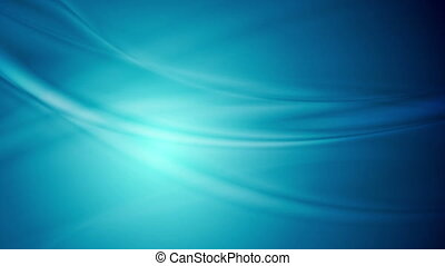 Blue abstract smooth flowing waves video animation - Blue...