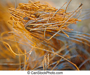 Rusty steel cord - waste to landfill