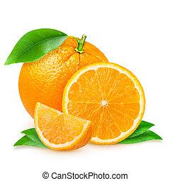 fresh orange isolated on white background - fresh orange...