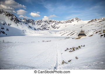 Winter landscape of Tatry mountains in winter, Poland. Piec...