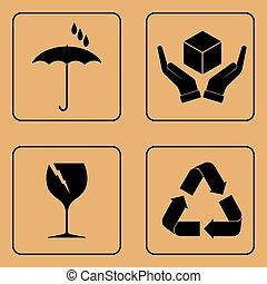 Set of fragile symbols