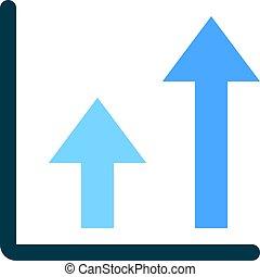 double arrow up chart