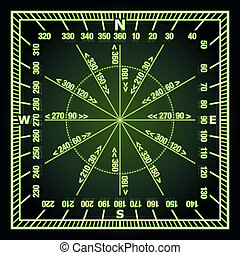 Navigation Grid - Glowing in the Dark Green Navigation Grid...