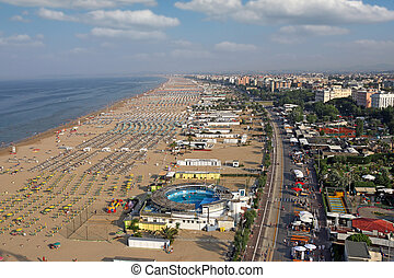 beach Rimini cityscape summer season