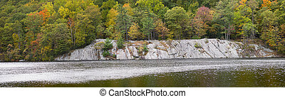 Hessian Lake Panorama - A panoramic view of Hessian Lake at...