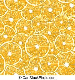 Oranges seamless pattern