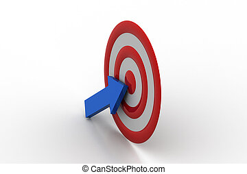 Target board with arrow