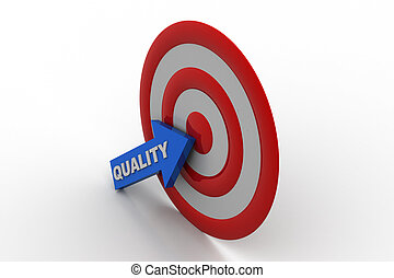 Target board with quality arrow