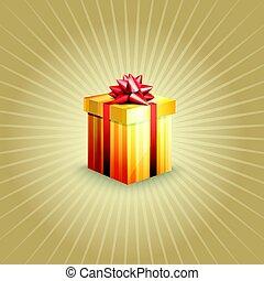 caja, Ilustración, regalo