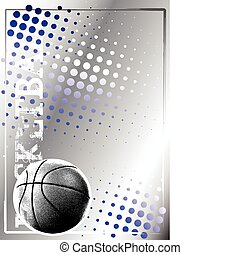 basketball silv poster background 3