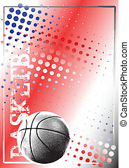 basketball red poster background 4 - basketball ball on the...