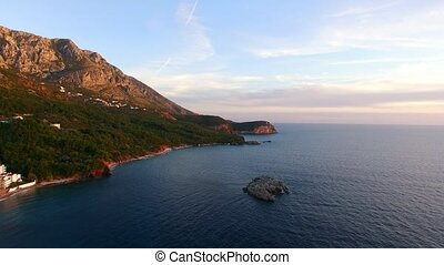 "The beach ""Crvena Glavica"" in Montenegro - The beach Crvena..."