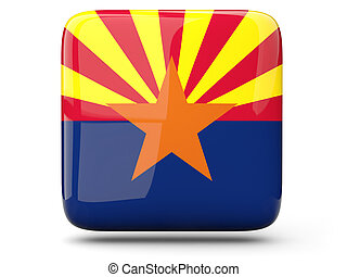 Flag of arizona, US state square icon - Flag of arizona, US...
