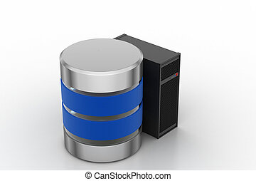 Database battery with server