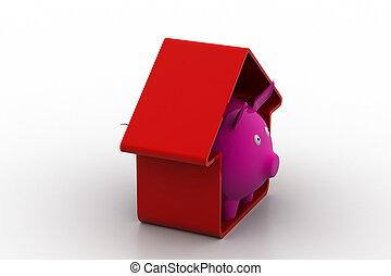 Home savings concept