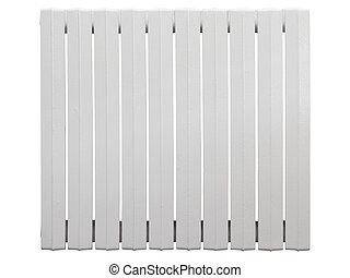 Cast iron radiator Isolated on white background