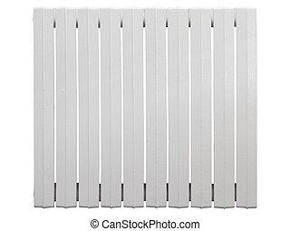 Cast iron radiator. Isolated on white background.