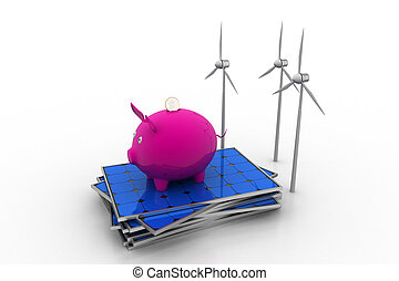 investment in renewable energy concept