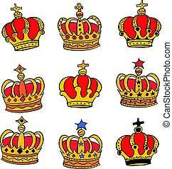 Doodle red crown style various collection