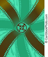 Film roll in a colour pattern