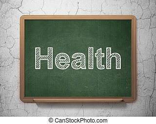 Medicine concept: Health on chalkboard background