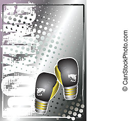 box silver poster background 3 - mittens on the silver...