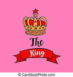 Red crown for king vector art