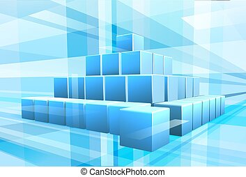 Blue Blocks Business Background