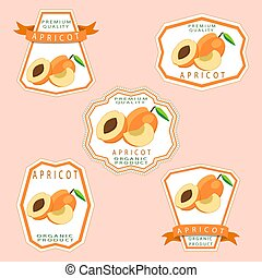 The apricot - Abstract vector illustration logo for whole...