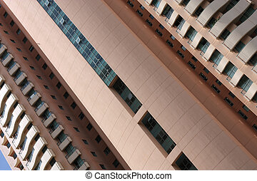 Architecture abstract - Skyscraper wall - abstract photo of...
