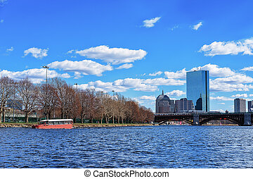 Ferry at Charles River Boston MA