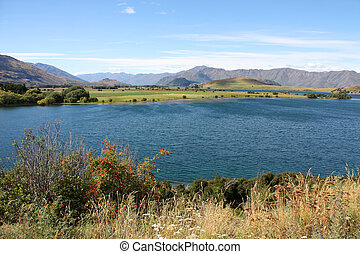 Wanaka - beautiful mountain lake in Otago region of New...