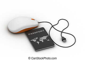 Passport connect with computer mouse