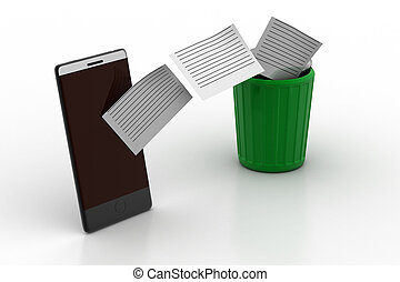 mobile phone data transfer to recycle bin