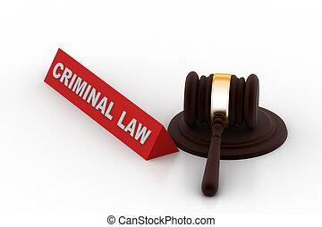 Criminal law concept