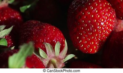 Fresh strawberries on a plate, close-up