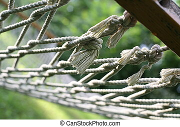 Close Up Hammock - Detailed close up of a traditional wood...