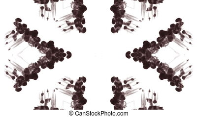 Abstract black and white background of ink or smoke flows is...
