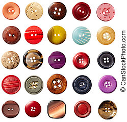 sewing button clothing - collection of various sewing button...