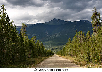 British Columbia - Outback gravel road in British Columbia,...