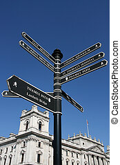London directions - a sign post in City of Westminster