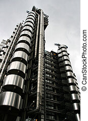 Skyscraper in London - ultramodern tower called Lloyd's...