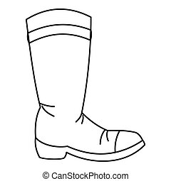 Cowboy boot icon, outline style - Cowboy boot icon in...