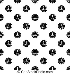Peso pattern seamless in simple style  illustration